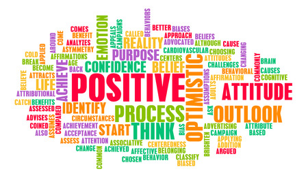 Denken oder Stay Positive als Positivität Mindset Lizenzfreie Bilder