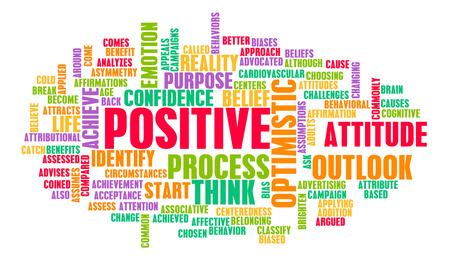 Piense o positivo de la estancia como positividad Mindset