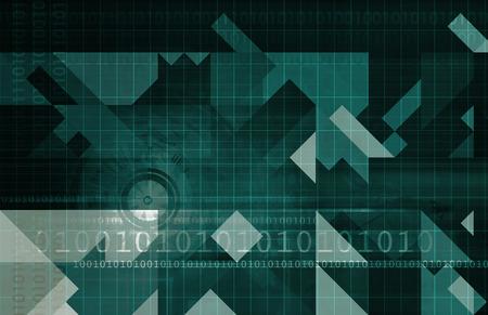 sistemas: Desarrollo de sistemas con la nueva tecnolog?a como arte Foto de archivo