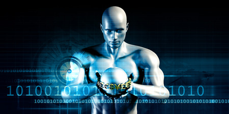 banking information: Financial Services and Technology Software as Concept Stock Photo