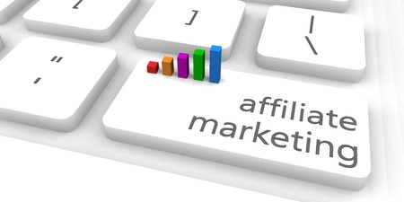 marketing concept: Affiliate Marketing as a Fast and Easy Website Concept