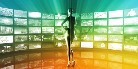 multimedia: Multimedia Entertainment with Futuristic Video Gallery Art