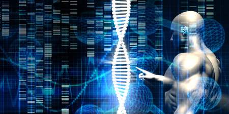 Genetic Engineering Industry and Business Ethics as Concept Stock Photo