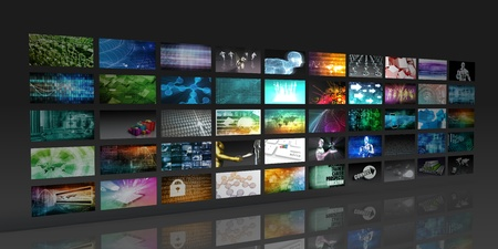 Multimedia-Hintergrund für Digital Network über das Internet