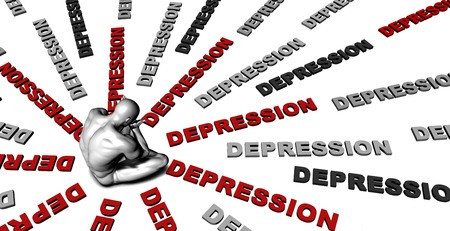 depression: Suffering From Depression with a Victim Crying Male