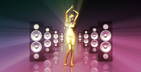 party system: Sound System with Female Dancing as a Music Concept