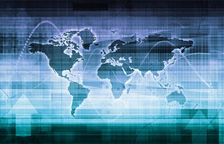 Soluciones Tecnológicas Globales sobre el arte del concepto de Internet Foto de archivo