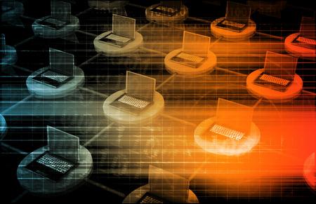 Netzwerksicherheit und Dateninformationsschutz Art Standard-Bild