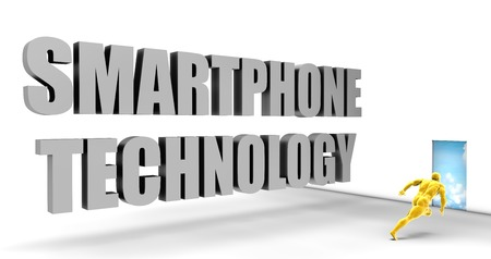 upcoming: Smartphone Technology as a Fast Track Direct Express Path Stock Photo