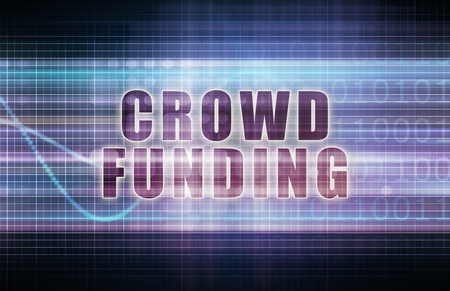 acquire: Crowdfunding on a Tech Business Chart Art