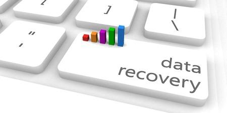 Data Recovery als een snelle en eenvoudige website Concept