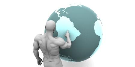 continente americano: Expansión de negocios en América del Sur Continente Concepto