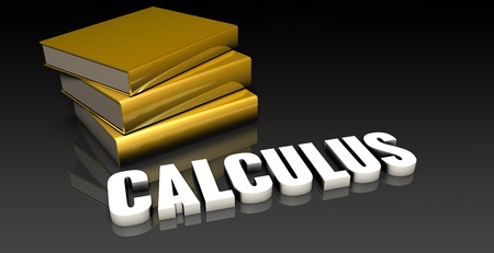calculus: Calculus Subject with a Pile of Education Books Stock Photo
