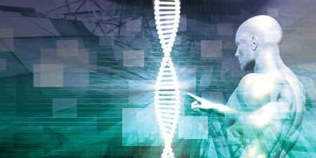 Biotechnologie als Research Abstract Background Art Standard-Bild - 45152102