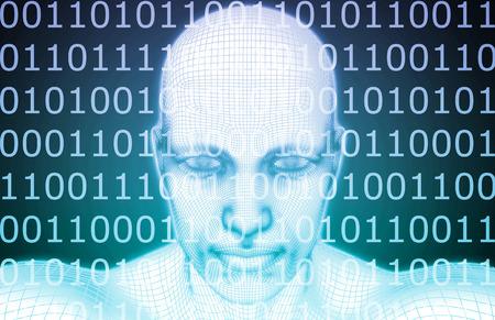 人工知能や人工知能ソフトウェア ロジックをコンセプトとして 写真素材
