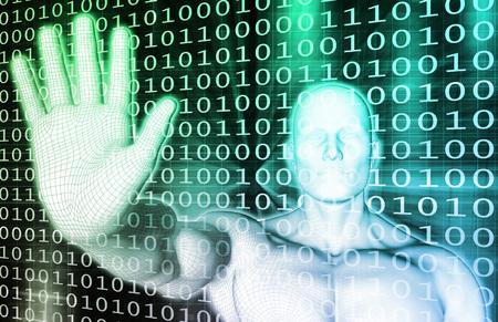 Data Protection und System-Firewall als Konzept Standard-Bild - 45473892