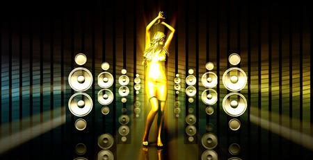 Résumé de musique de fond Danse pour un événement musical Banque d'images - 45473931