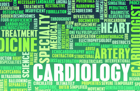 the cardiologist: Cardiology or Cardiologist Medical Field Specialty As Art Stock Photo
