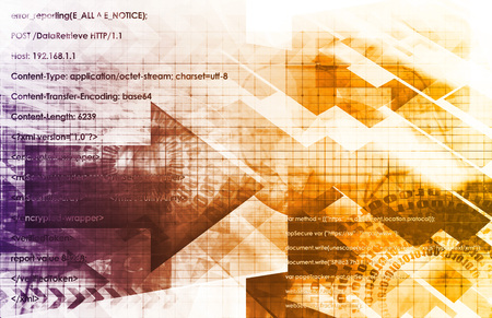 identity management: Digital Identity Management as New Technology Art Stock Photo