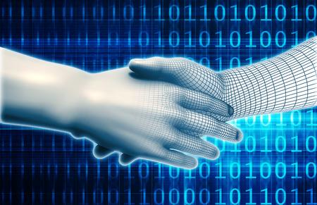 Science et Technologie Evolution à l'ère numérique Banque d'images