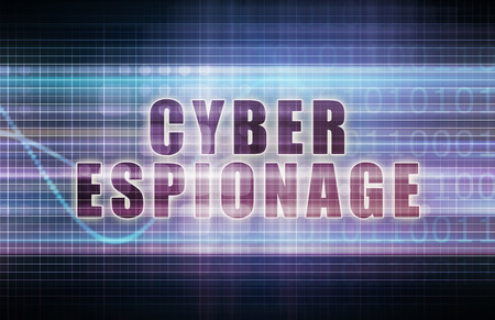 corporate espionage: Cyber Espionage on a Tech Business Chart Art Stock Photo