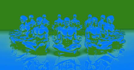 mente humana: Zen Estado y de un Concepto Mente Pacífica o calma