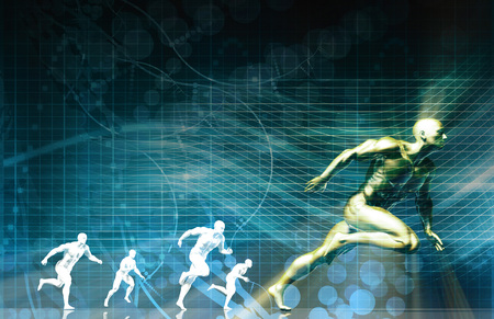 a medical technology: Sports Technology and Medical Research as Concept Stock Photo