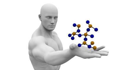 genetic: Science Technology and 3d Genetic Atomic Concept