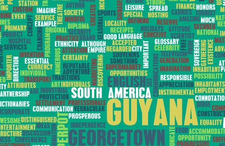 guyanese: Guyana as a Country Abstract Art Concept