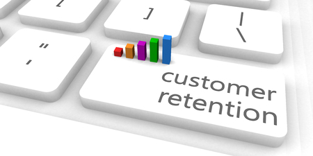 Customer Retention as a Fast and Easy Website Concept Banco de Imagens