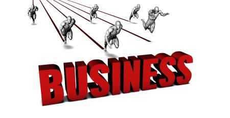 better business: Better Business with a Business Team Racing Concept