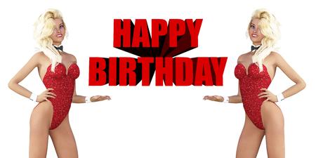 auguri di compleanno: Buon compleanno con Sexy Ladies sorridente a voi