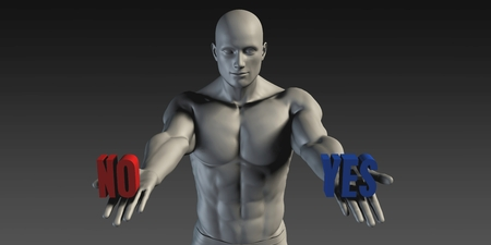 yes or no: Yes or No as a Versus Choice of Different Belief