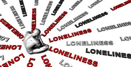 soledad: Sufre de soledad con una víctima llanto masculino Foto de archivo