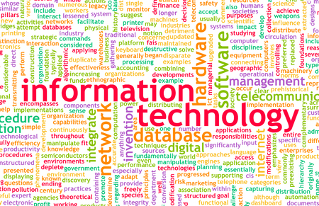 information technology: Information Technology or IT as a Career Industry Stock Photo