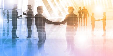 Rencontrer des gens d'affaires dans un environnement d'entreprise