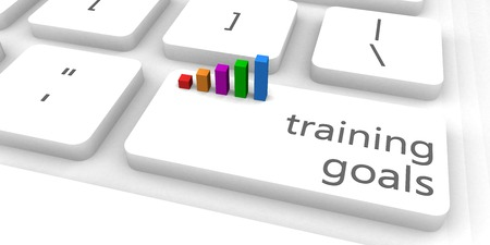 consult: Training Goals as a Fast and Easy Website Concept Stock Photo