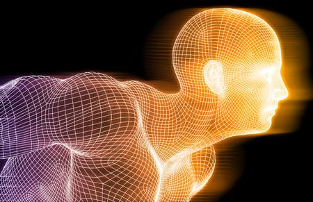 medicina: Antecedentes Tecnología Deportes Concepto abstracto como arte