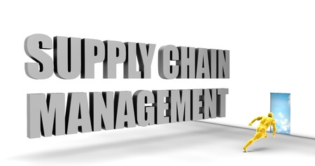 direct: Supply Chain Management as a Fast Track Direct Express Path Stock Photo