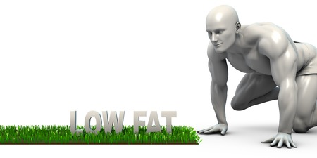 low fat: Low Fat Concept with Man Looking Closely to Verify