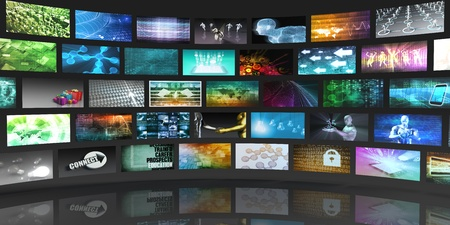 variation: Video Screens Abstract Background for Multimedia Concept