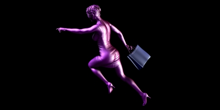 sales promotion: Female Shopper Rushing for a Sales Promotion