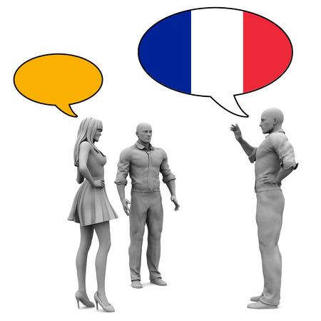 comunicarse: Aprender la cultura francesa y el lenguaje para comunicarse Foto de archivo