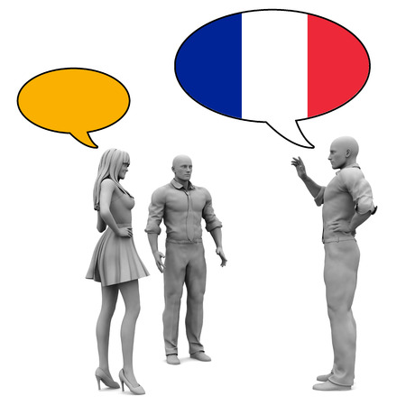 french culture: Learn French Culture and Language to Communicate Stock Photo