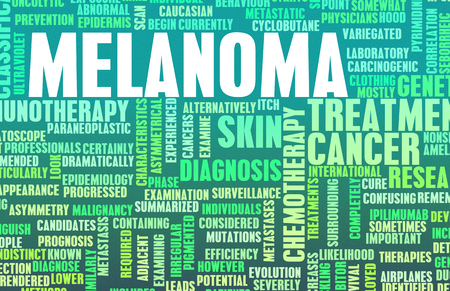 melanoma: Melanoma as a Skin Cancer Condition and Treatment Stock Photo