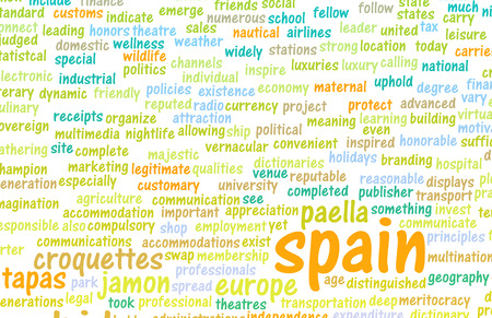 cuisine: Spain as a Country Abstract Art Concept
