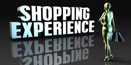 retail sales: Shopping Experience as a Concept with Lady Holding Shopping Bags