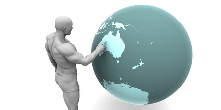 emerging economy: Business Expansion into Australia or New Zealand Concept