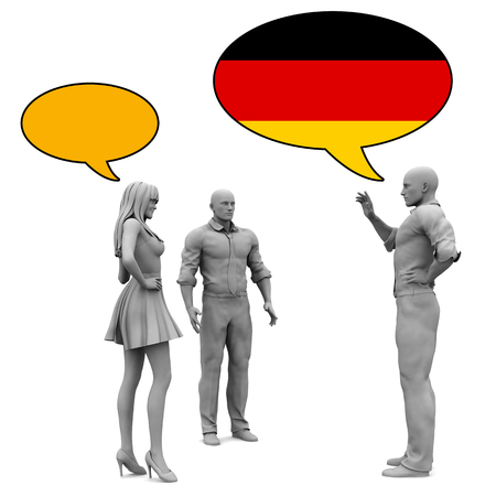 Learn German Culture and Language to Communicate Stock Photo