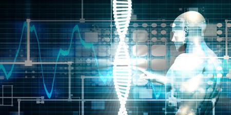 연구 개발 과학 개념에 대한 의료 배경